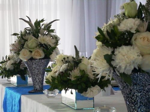 Flower arrangements for wedding venue