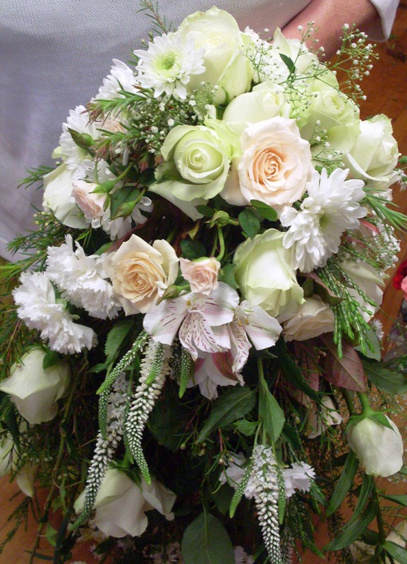 Brides bouquets and wedding flowers.