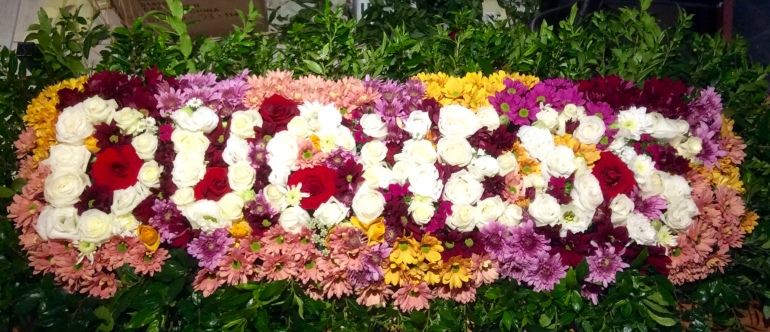 Funeral flowers for P.E.