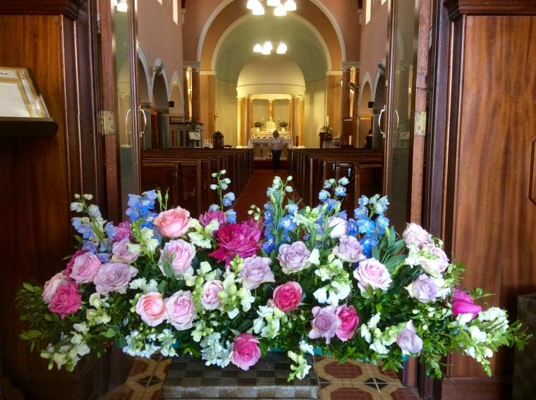Final flowers in P.E.