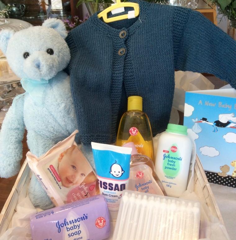 New baby gift hamper for baby boy.