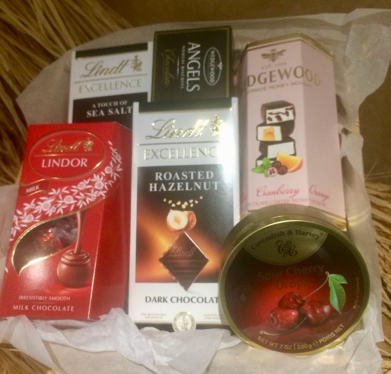 Bespoke chocolate and sweet hamper
