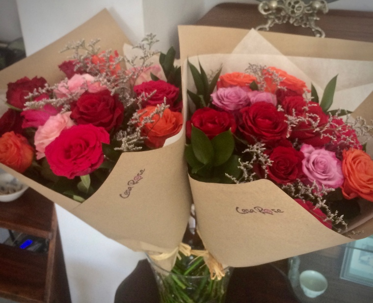 Mixed rose bouquets