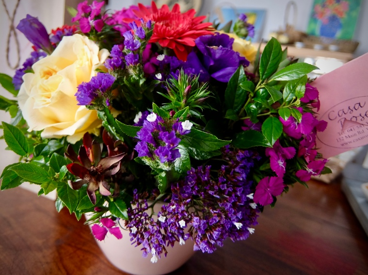cheerful mixed posy