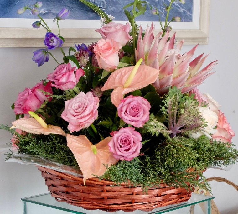 Basket f flowers