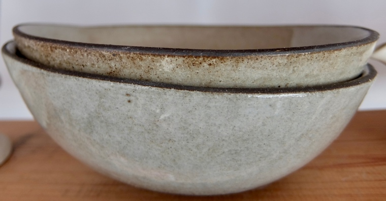 Ceramic bowls.