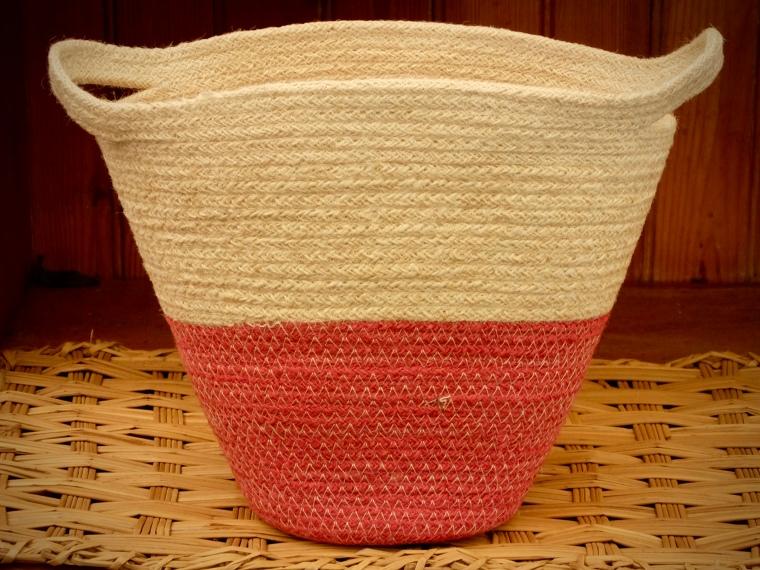 Stitched cotton basket