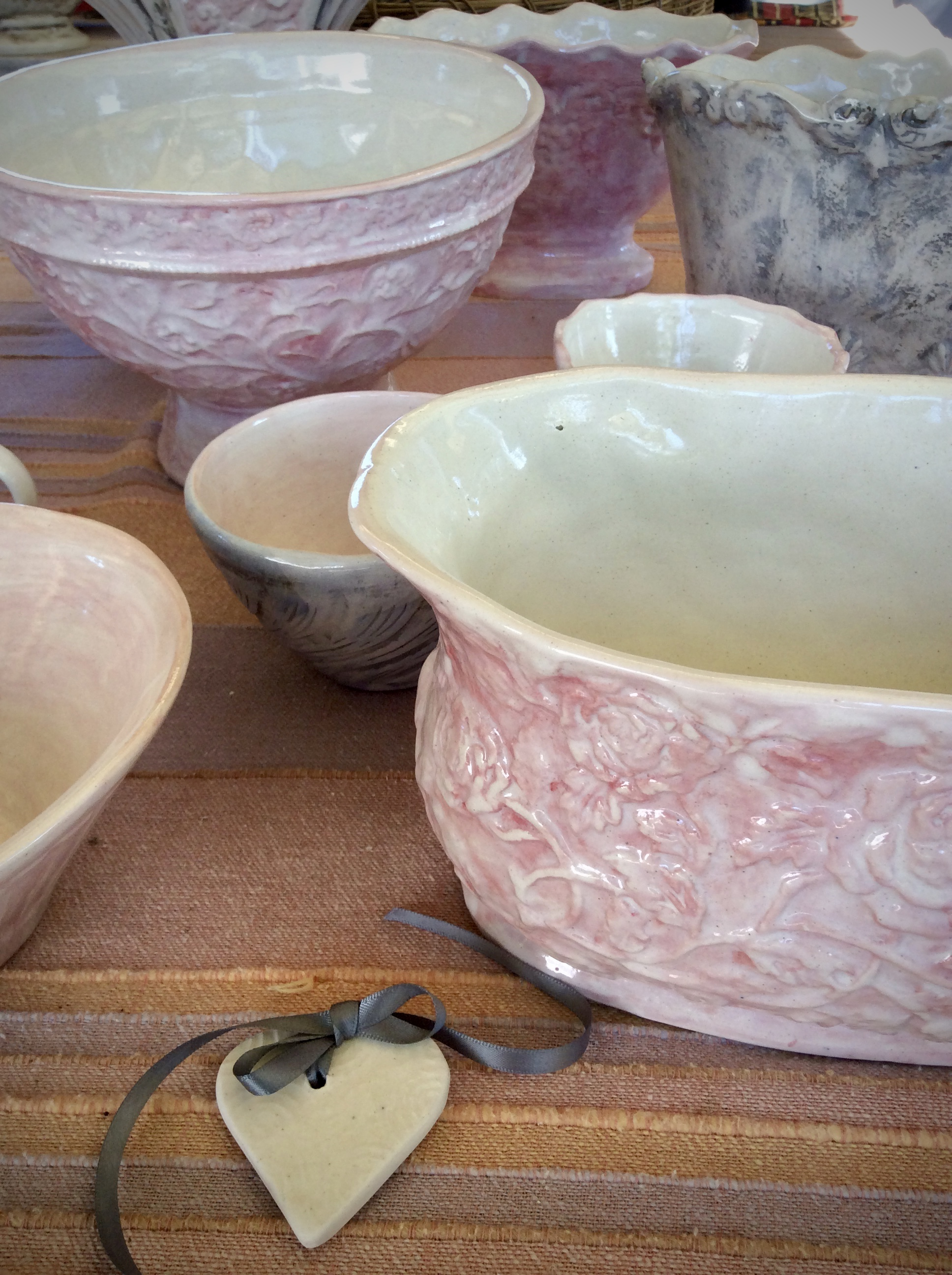 Ceramic vases and bowls from our own pottery kiln.